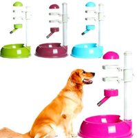 Wholesale hamster cat - Pet Cat Dog Water Drinker Dispenser Food Stand Hamster Feeder Dish Bowl Bottle 4 Colors EEA367 3PCS