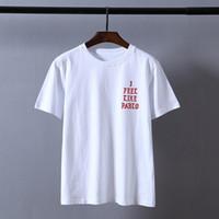 a47480281e884 erkekler mevsimi t-shirt toptan satış-Kanye West Pablo T Gömlek Erkekler  Gibi Hissediyorum
