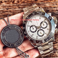 Wholesale swiss automatic movement chronograph - 2 Color Best Quality AR Factory 40mm Cosmograph 116500 116500LN 904L Steel Chronograph Swiss CAL.4130 Movement Automatic Mens Watch Watches