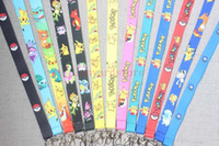 Wholesale anime cell resale online - anime cartoon mixed Cell Phone Key Chain Neck Strap Keys Lanyards Mobile Phone ID Card KeyChain Holder kids gifts