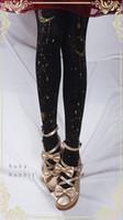 guantes sexy hombres al por mayor-Nueva alta calidad estrellas de estampado en caliente Luna 180D Medias de terciopelo Primavera y otoño Cosplay Lolita apretado para regalo