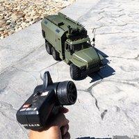 ingrosso i migliori bambini giocano le automobili-WPL Ural 1/16 Simulazione Rc camion militari 6WD fuoristrada camion di controllo remoto auto giocattoli per bambini Miglior regalo di Natale