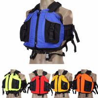 Wholesale diy survival - DIY life vest lifevest life jacket likfejackets Canoeing jacket Oxford cloth EPE inside Swimming Survival Jackets
