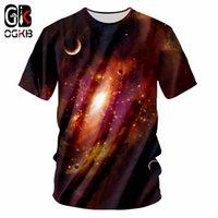 ingrosso grande stampa 3d-OGKB Big Size 7XLTshirt Estate Top Uomo 3d Print Nebula Star T-Shirt Uomo Hiphop O Neck Camicie Punk Rock Sexy Slim Casual Blusas