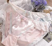 Wholesale kawaii bows - 100% Real Photos M L XL XXXL 3XL Plus Size Lovely Cute Lolita Kawaii Princess Sexy Lace Pearls Bow Panties Underwear Brief 204