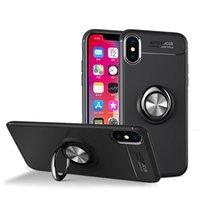 porte-étui magnétique achat en gros de-Coque magnétique Titulaire de la bague pour iPhone X 7 8 6 6S Plus Coque souple en TPU antichoc à 360 degrés