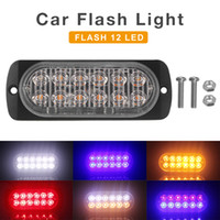 flash de baliza al por mayor-12V / 24V 36W impermeable 12 LED impermeable del coche camión de baliza de emergencia de advertencia de peligro estroboscópico del flash de la barra ligera de CLT_213