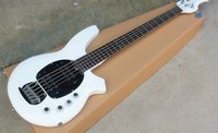 Wholesale music man basses for sale - Group buy New High Qulity Music Man Bongo Metal white Strings Active Pickups Bass Guitar Musicman Bass Guitar can be customized