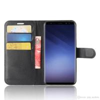 ingrosso custodie in pelle di qualità per la nota della galassia-Custodia in pelle PU per Samsung Galaxy S9 con slot per schede per Samsung S6 S7 Edge S8 Pllus Nota 5
