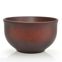 Wholesale wood bowl wholesale - 12.5*7.5CM Japanese Style Wooden Bowl Noodle Bowl Chestnut Wood Food Containers Bowls Safe Soup bowl Nice Tableware Free Ship
