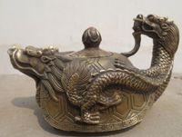 Wholesale led safe lights for sale - Chinese hand sculptures gilding bronze lead bronze kettle kettle statue teapot