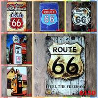 Wholesale wallpaper art home for sale - ROUTE Metal Signs Tin Painting Home Decor Posters wallpaper Crafts Supplies Metal Paper Cutting Dies Arts and Crafts
