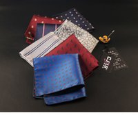 Wholesale Orange Silk Handkerchief - Wholesale Men's Suits Handkerchiefs dot Pocket Square Hankies Men's Business Casual Square Pockets Hanky Handkerchief Fashion Accessories