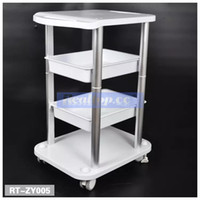 Wholesale Two Lift - Two Shelf ABS Pedestal Rolling Cart Salon Stand Trolley Styling Spa Salon Cart for Ultrasonic Cavitation RF HIFU Face Lifting Machine