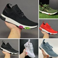 Wholesale Denim Over - 2017 NMD Racer Spring Rainbow Boost Knitting Running Shoes Over The Rainbow Boost NMD Racer Spring Casual Sneakers