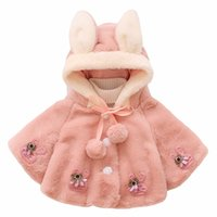 Wholesale newborn spring jackets for sale - Autumn Winter Baby Girls Coat Fashion Newborn Hooded Cloak Poncho Jacket Outwear Coats Clothes Bebes Outwear