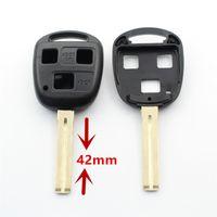 Wholesale lexus key remote shell - 10Pcs lot For Lexus RX300 RX400h ES300 ES330 GS400 GS430 GS470 LS400 3Button Transponder Remote Key Shell With Logo S967
