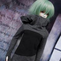 pinturas em miniatura venda por atacado-Novo 1/3 1/4 tio BJD SD MSD boneca cinza PRETA camisa de manga longa / roupa / roupa