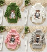 ingrosso maglione del turtleneck del ragazzo del bambino-nuovo 2019 ragazzi delle neonate autunno / inverno usura maglioni caldi del fumetto maglioni per bambini maglione maglione dolcevita