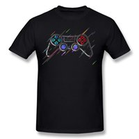 Wholesale controller s resale online - Best Choice Mens Pure cotton GAME Controller T Shirts Mens Crewneck White Short Sleeve T Shirts S XL Printed On T Shirts