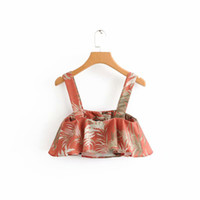 Wholesale sexy clothing for female for sale - Geckoistail Summer Women Print crop top Tank top Camis Ladies Sexy Off Shoulder Fashion Female T Shirt For Women Clothing
