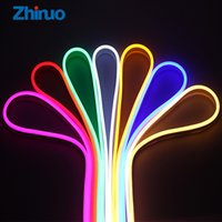 Wholesale Neon Lights Decorating - Zhinuo 12V RGB Led Strip Outdoor Neon Flexible Waterproof Outdoors Light Strip For Decorate Square Garden Highway Building