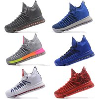 Wholesale basketball times - Free shipping KD 9 Elite Time to Shine Basketball Shoes mens kids KD 9 Elite Time Gray Sneakers Size us 7-12