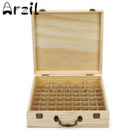 Wholesale chinese beds for sale - 66 Slots Wooden Essential Oil Bottles Box Storage Case Organizer Aromatherapy Display High Capacity Nail Polish Carrying Holder