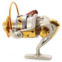 carrete 12bb al por mayor-Envío gratis EF 1000-9000 12BB 5.5: 1 Carrete de pesca Carretilha Pesca Rueda Carrete de metal Spinning Carretes de pesca Europa Venta caliente