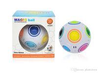 hızlı küp ücretsiz gönderim toptan satış-Gökkuşağı Topu Küp Hız Futbol Eğlence Yaratıcı Top Bulmaca Çocuk Eğitim Öğrenme Çocuk Oyuncakları Oyunları Yetişkin Hediyeler Ücretsiz Kargo