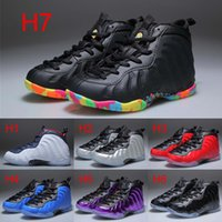 Wholesale shoe air foam - New Kids Penny Hardaway Fruity Pebbles Basketball Shoes Youth Sports Trainers Shoes Cheap Boys Girls Foam One Sneakers For Sale 28-35