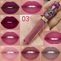 Wholesale make lipstick waterproof online - New Makeup CmaaDu Matte Colors Liquid Lipstick Waterproof and Long lasting Skull Tupe Lipsticks Lip Make up Lipgloss DHL