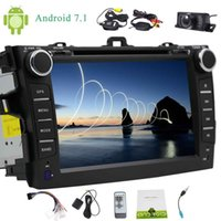 Wholesale car dvd android toyota resale online - Eincar Wireless Rearview Camera Double Din Car Stereo for Toyata Corolla Android GPS Navi Car DVD Player Octa core
