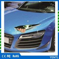 бесплатные пластиковые модели автомобилей оптовых-Бесплатная доставка YENTL автомобилей смешные 3D модели моделирования подглядывание глаза авто виниловые наклейки автомобиля