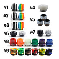 Wholesale Accessories Tips - New 810 Epoxy Resin Drip tips Black & White Color For 810 RDA RBA Tank or TFV8 TFV12 tank E-cigarette Accessories Drip Tips