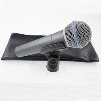 los mejores micrófonos dinámicos al por mayor-Real Transformer Versión de calidad superior Profesional Vocal Karaoke Handheld Micrófono con cable dinámico beta58 micrófono Microfone