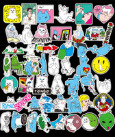 Wholesale word notebooks - 50pcs lot DIY Waterproof Stickers without repetition Middle Finger Cats Doodle stickers For Car Laptop Motorcycle Notebook