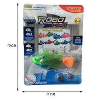 Wholesale robot electronics online - Luminous Electric Swimming Electronic Swimming Fish Simulation Fish Robot Electronic Robotic Pet for Fishing