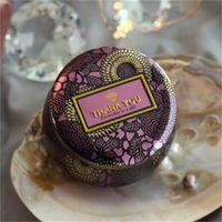 оловянная коробка хранения цветок оптовых-Цветок чай дело стекло подсвечник позолота оригинальность олова многоцветный конфеты коробка свадебная церемония подарки ящики для хранения 2 6fl ff