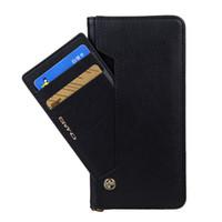 vertikale flip brieftasche fall großhandel-Magnetischer 2 in 1 Schlag-Leder-Halfter-Kasten-vertikale Geldbörsen-Kupplungs-Klammer-Stent-Telefon-Kasten-abnehmbare Handy-Muschel für iPhone X 7 Samsung