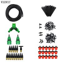 Wholesale garden tools kit resale online - wxrwxy Drip irrigation system way Watering kit Gardening tool kit garden watering system brass misting nozzle set