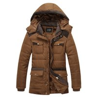 Wholesale Military Style Winter Coats Men - Winter Coat Men Jackets New 2016 Plus Size 3XL Brand warm Thick Coats Military Vintage Style Mens Clothing