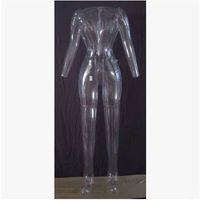 Wholesale female mannequin free shipping resale online - High Quality Unique Transparent Female Inflatable Mannequin Inflatable Model For Sale