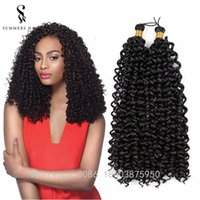 Wholesale water wave hair freetress resale online - Hot Sale Freetress Synthetic Hair Extensions quot Pure Color Water Wave Crochet Braiding Hairstyle For African Women