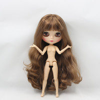 Wholesale breast dolls - blythe factory free shipping factory blyth doll 280BL9158 brown long hair big breast joint doll