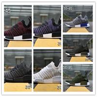 zapatillas de primavera para hombre al por mayor-Descuento Nuevo NMD R1 Stlt Primavera Verano 2018 Línea para hombre Zapatillas para correr NMD Runner Primeknit Sports Sneakers