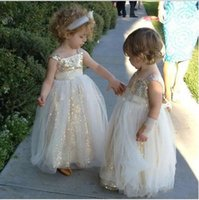 Wholesale graduation dresses china - Cute baby Flower Girl Dresses Sequin Little Dress A Line Girls' Pageant Dresses Custom Made In China