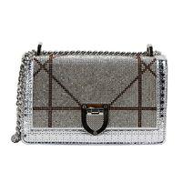 Wholesale patent hand bags - 2018 New Women Diamond Lattice Chains Patent Leather Handbags Cover Hand Bag Flap Shoulder Messenger Black Golden Silvery Bags