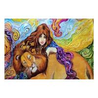 schönheit tier malerei großhandel-5d Diamant Malerei Schönheit und Tier, DIY Malerei Handmade diy 5d diamant stickerei lion mosaik bilder wohnkultur B355