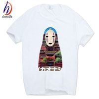2017 Spirited Away Casual Stampa Anime Lovers T-Shirt Unisex Manica Corta O-Collo Top Tees Estate Maglietta Tshirt HCP213